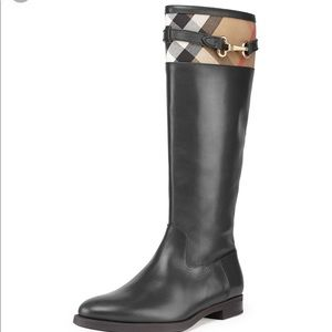 Authentic Burberry leather boots